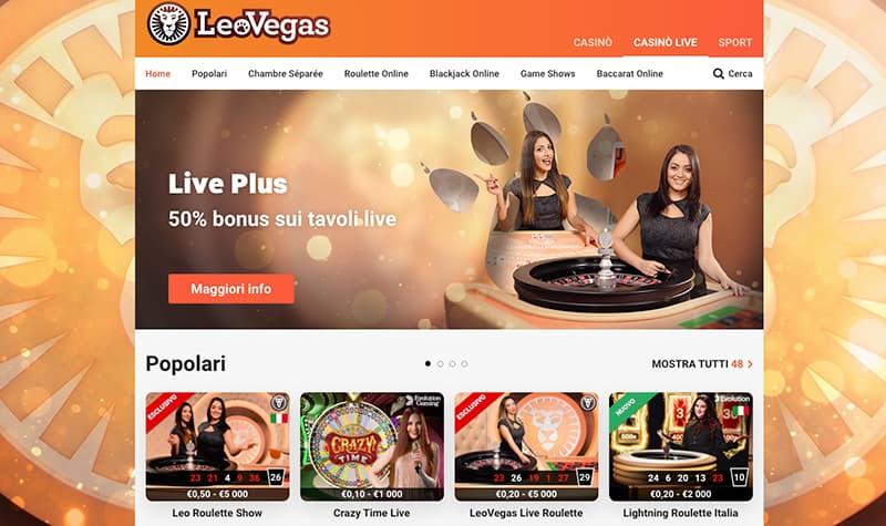 leo vgas casino online live giochi