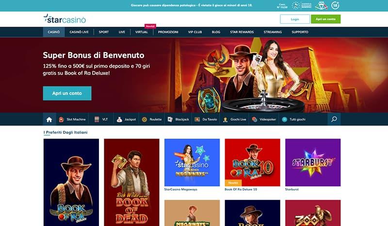 starcasino website interface
